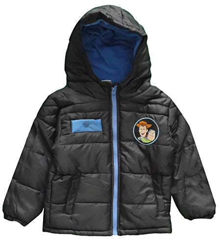 Disney Toy Story 4 Woody and Buzz Winter Coat (4 Años, Gris Oscuro)