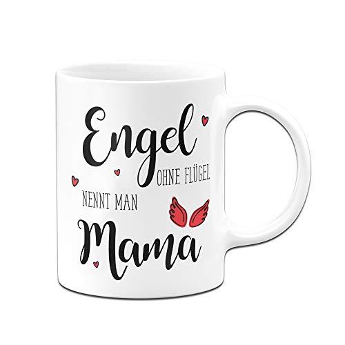 Tassenbrennerei Tasse Engel ohne Flügel nennt Man Mama, Geschenk zum Muttertag oder Geburtstag (Weiß)