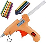 Penggong® 20W 20 WATT 7MM hot melt Glue Gun with ON Off Switch and LED Indicator 5 Transparent + 5 Colored + 5 Glitter Sticks