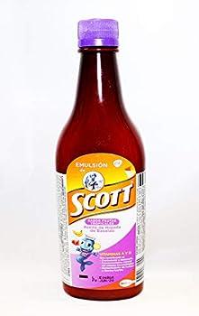 Emulsion Scott Frutas Tropicales  tropical fruit  400 Ml by Scott Emulsion