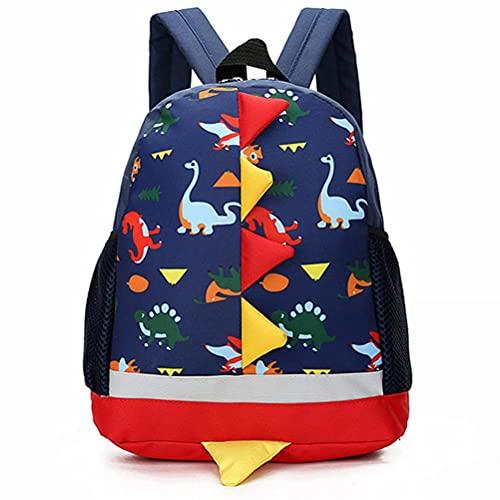 Mochila para niños con diseño de dinosaurios de dibujos animados, mochila para niños y niñas