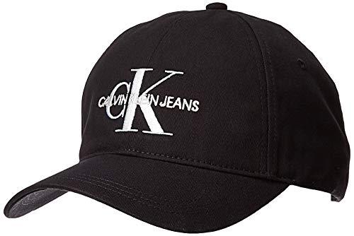 Calvin Klein Herren J Monogram M Baseball Cap, Schwarz (Black BAE), One Size (Herstellergröße:OS)