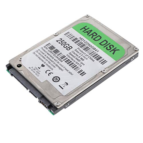 Almencla 2,5'' Hard Disk Meccanico HDD 250GB SATA 2 8M Disco Rigido Interno ad Alte Prestazioni per Computer - 250GB
