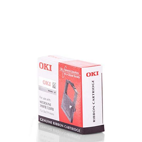 Original Farbbänder kompatibel zu OKI Microline 390 FB, ML 320FB 09002310 9002310, Premium Nylonband, Schwarz