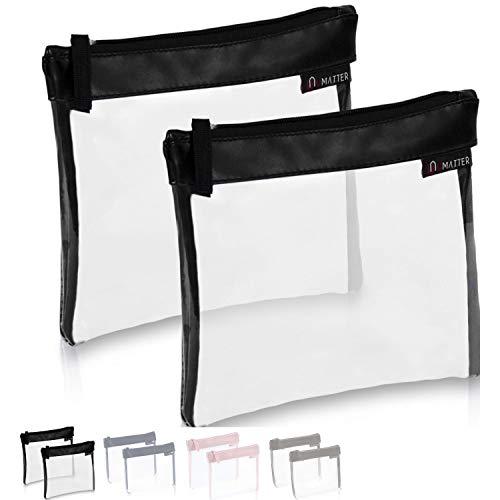 umatter ® 2er Set Flugzeugbeutel, Kulturbeutel transparent für Flüssigkeiten im Handgepäck, durchsichtige Kulturtasche, 1 Liter Reiseset, Kosmetiktasche, die Reisetasche ist Ideal für die Flugreise