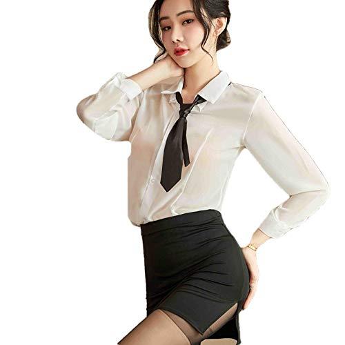 QPYUS Erotische Baby Dolls & Negligees Sexy Lehrerin Dessous Frauen Unterwäsche Outfit Sekretärin Uniform Cosplay-As_Shown_One_Size