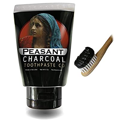 Activated Charcoal Toothpaste for Natural Teeth Whitening with Peppermint Essential oil