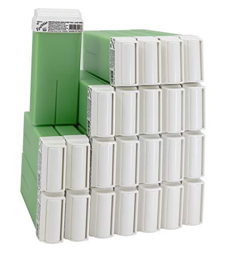 EpilWax Lot de 24 Cartouches de Cire Roll-On à l'Aloé Vera pour Épilation - 100 ml