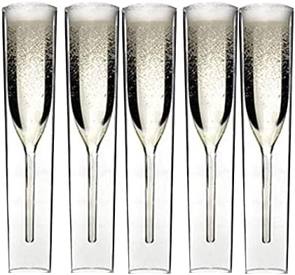 SDLAJOLLA 2 3 5 Pcs Fees free Luxury Glass Flutes Direct stock discount Double-Layer Champagne I