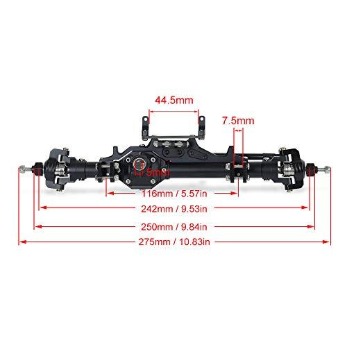 ACHICOO Öl einstellbar70 / 80/90/100/110 / 120mm Metall Stoßdämpferdämpfer, Rotfarbige Simulation Autoteile für 1/10 Autoteile Truck Crawler Axial SCX10 TRX4 D90 90046 100mm