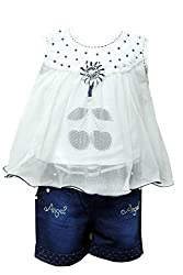 Clobay Girls Denim Shorts and top Clothing Set