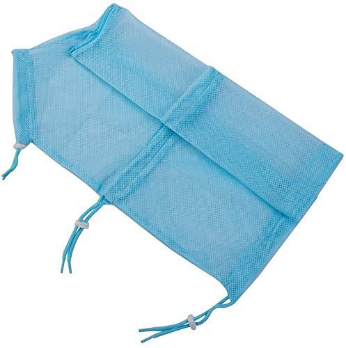 Weikeya Haustier Katze Pflege Waschen Bad Tasche, Kratz Beißen Zurückhaltung Polyester Netz Tasche für Dusche, Reinigung Ohr, Schneiden Nägel, Medizin Fütterung, Blau
