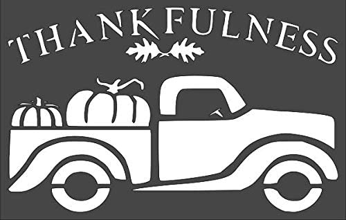Max 78% OFF 1- 7x11 inch Custom Alternative dealer Cut Arts Stencil Thankfulness Truck TF-94