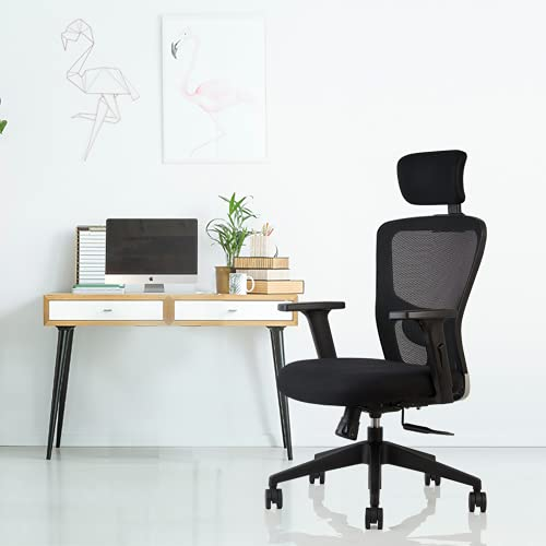 INNOWIN® Jazz High Back Mesh Office Chair (Black) for Office & Home