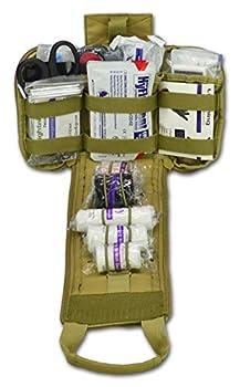 Lightning X Spread Eagle Complete Tactical Gunshot & Trauma IFAK Kit w/Laser Cut MOLLE - TAN