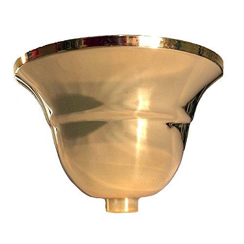 Baldaquino luminoso, metal de latón pulido, forma flamenca, maceta de lámpara, maceta de techo