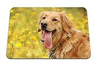 22cmx18cm マウスパッド (犬の舌の目を歩く) パターンカスタムの マウスパッド