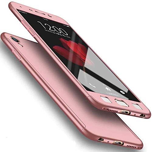 Funda para Galaxy 2016 J5, carcasa rígida de color puro, protector de pantalla para Samsung Galaxy J510 Rosegold