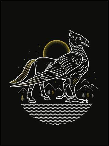 Póster 60 x 80 cm: Harry Potter - Hippogriff de Warner Bros. Entertainment GmbH - impresión artística, Nuevo póster artístico