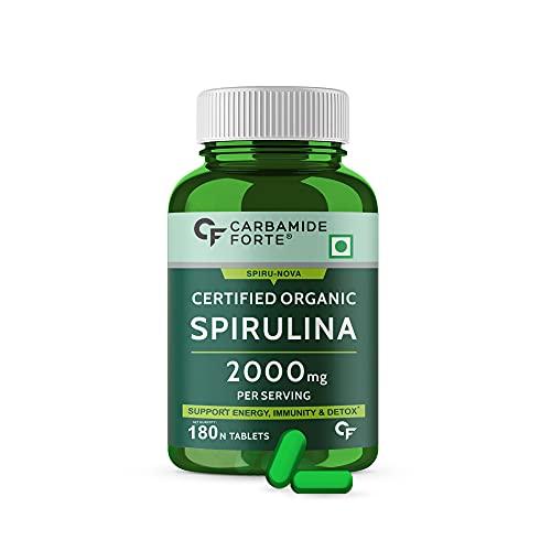 Carbamide Forte 100% Organic Spirulina Tablets 2000mg Per Serving - 180 Tablets