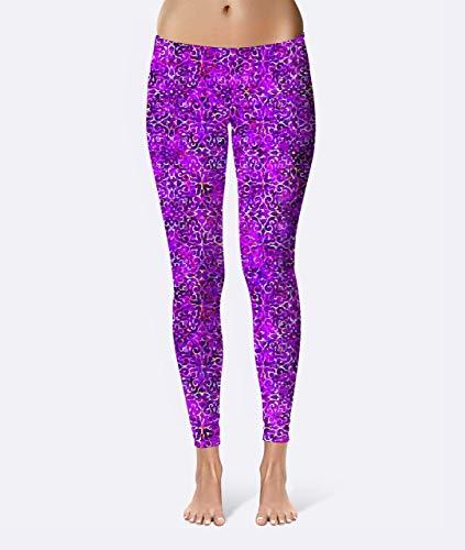 Fuchsia Batik Premium Women's High Waist Leggings featuring original design by Artist Dan Morris