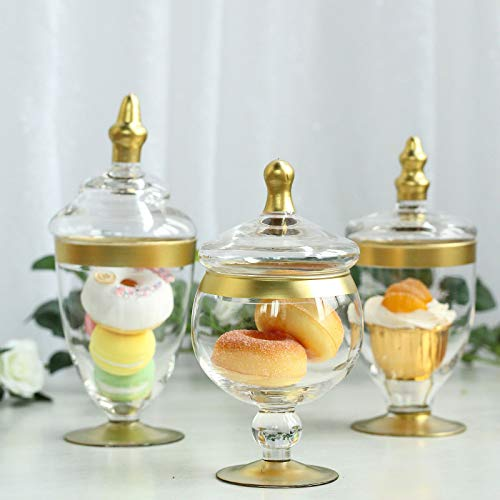 Weddings Venue Shop'Glass Apothecary Jars with Lids - 8.5''/9''/9.5'' |...
