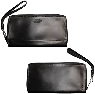 Women's Panther Leather Clutch Slim Wallet, Holds Up to 40 Cards