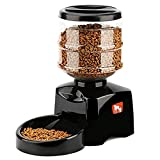 Smart Pet Feeder Automatic Feeder,5.5 Liter Electric Dry Food Container Timed Dog Cat Food Dispenser Timer Programmable 1-3 Meals 12 portions Control Voice Recorder for Dog Cat Small & Medium Pets