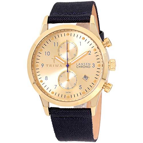 Triwa Unisex Erwachsene Chronograph Quarz Uhr mit Leder Armband LCST103-CL060713