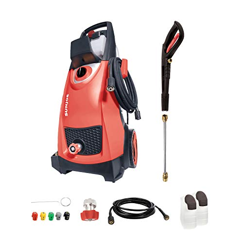 Sun Joe SPX3000-RED 2030 Max Psi 1.76 Gpm 14.5-Amp Electric Pressure Washer, Red