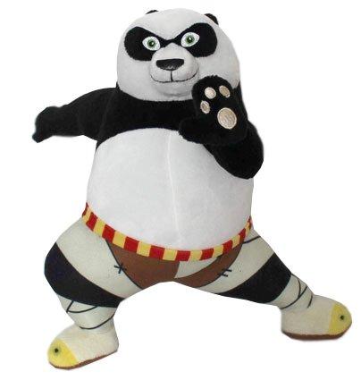 KUNG FU PANDA - Peluche di carattere Panda ragazzo 'Po' (Kung Fu posizione) (11'/28cm) del film 'KUNG FU PANDA 3' 2016 - Qualità Super Soft