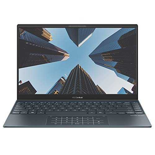 ASUS ZenBook 13 UX325JA 13.3' Full HD Professional Laptop (Intel Core i5-1035G1, 8GB RAM, 512GB M.2 NVMe PCIe 3.0 SSD, NumberPad, WiFi 6, Windows 10 Professional) Includes additional connector dongles