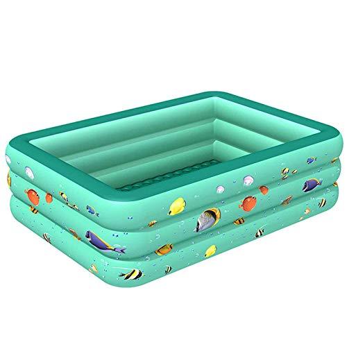 Piscina Hinchable Cuadrada, con Asientos Easy Set Piscina Inflable Piscina Duradera para Patio Jardín Fiesta Al Aire Libre