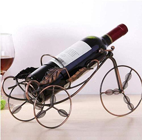 Estanterías de vino dkee Retro Simple Estante for Vinos European Maple Wine Rack Creativo Estante for Vinos Decoración De Hierro Retro Decoración