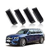 YEE PIN Mercedes GLB-Klasse W247 2020 2F Organizador de Caja de Almacenamiento Bolsillo de Puerta de Coche para Guardar pequeños Cambios, Llave con 4 Alfombrillas Antideslizantes