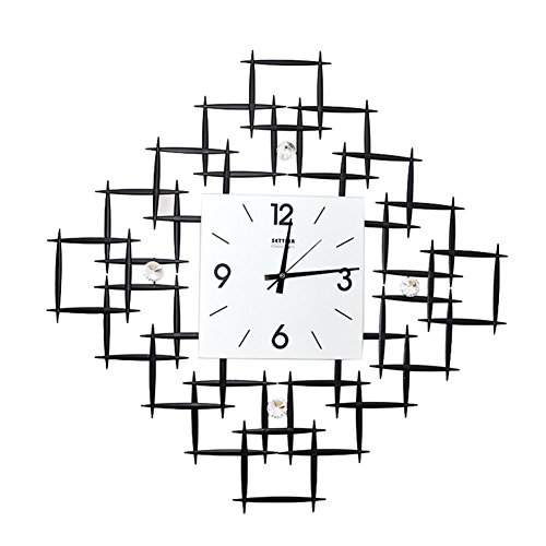 Flashing- 28,3 Zoll kreative moderne Wanduhr, Eisen Uhr Körper / Glas Uhr Gesicht / Sweep Sekunden Bewegung / Carbon Batterie (ohne Batterie) Wohnzimmer Uhren