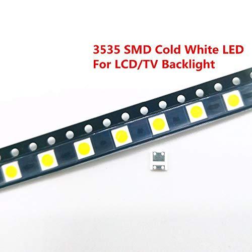 Studyset 50/100 Pcs Diodes TV Backlight 2W 6V / 1W 3V 3535 SMD LED Televisao Cold White Backlit LCD Backlight for TV 2W 6V 100Pieces