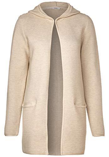 Cecil Damen 253009 Lana Strickjacke, Alabaster beige Melange, Medium (Herstellergröße:M)