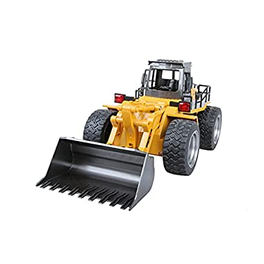 DEORBOB 1:24 RC Construction Toys Remote Control Excavator 2.4G Large Forklift Radio Controlled Pushdozer Engineering…