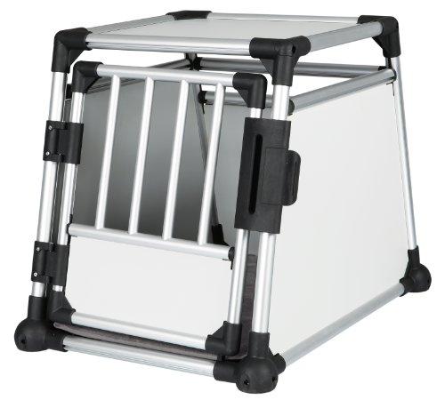 Trixie 39341 Transportbox, Aluminium, M: 55 × 62 × 78 cm, silber/hellgrau