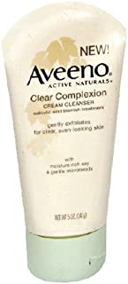 Aveeno Clear Complexion Cream Facial Cleanser with Salicylic Acid Acne Medicine, Face Wash with Soy Extract...