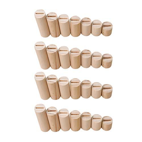 Colcolo Estante de Madera con Forma de Cilindro 28pcs / Set para Vitrina de Exhibición de Anillo de Tamaños Variados