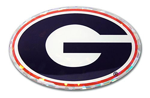 Elektroplate Georgia Bulldogs Color NCAA Reflective 3D Decal Domed Sticker Emblem