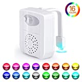 Toilet Bowl Light, Motion Sensor Night Light, 16 Colors LED UV Toilet Night Light with 2 Aromatherapy Tablets, Color Changing Toilet Light for Bathroom, Fits Any Toilet, Perfect for Kids and Adults