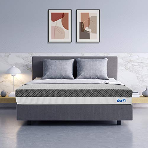 Durfi Mattress Ortho Memory Foam 6-inch Queen in Grey Color (78x60x6 Inches)