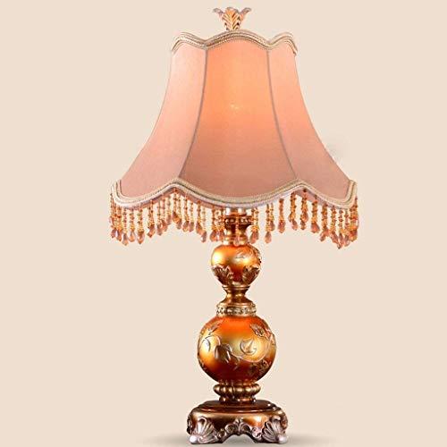 Fotingstarcase Lámparas de Mesa, Personalidad Simple Creativo Retro de la Sala de Estar de Estilo Europeo Lámparas de Mesa, lámpara de cabecera del Dormitorio, Lámparas de luz de la Noche de Lectura