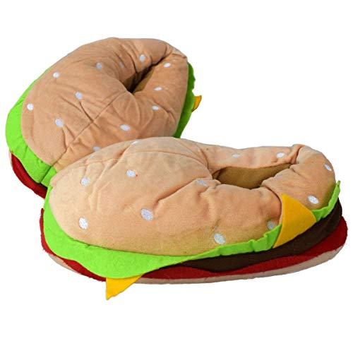 Marabella Hamburger Kuschel Hausschuhe bunt Gr. 31-42 Fun Kinderhausschuhe & Erwachsene, Schuhgröße:37-38