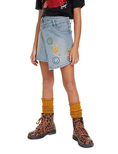 Desigual Mädchen Skirt Denver Rock, Blau (Denim Medium Light 5160), 152 (Herstellergröße: 11/12)