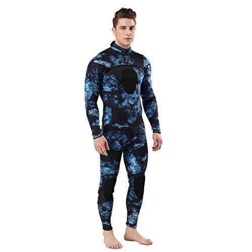 LOPILY Herren Mode Neoprenanzug Surfbekleidung 3MM Ganzkörperanzug Schwimmanzug Tauchanzug Schwimmen Surfen Tauchen Sport Badeanzug Wetsuit Schnelltrocknend(Dunkelblau,XL)