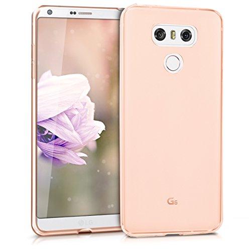 kwmobile Cover Compatibile con LG G6 - Custodia Morbida in Silicone TPU - Crystal Case Custodia Flessibile - Oro Rosa